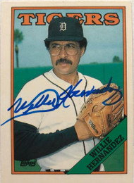Willie Hernandez Autographed 1988 Topps Tiffany #713