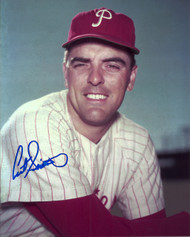 Curt Simmons Autographed Phillies  8 x 10 Photo 2