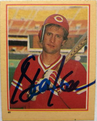 Duane Walker Autographed 1984 Fleer Stickers #41