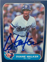 Duane Walker Autographed 1986 Fleer #574