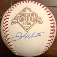 Joe Blanton Autographed 2008 World Series Baseball
