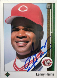 Lenny Harris Autographed 1989 Upper Deck #781 Rookie Card