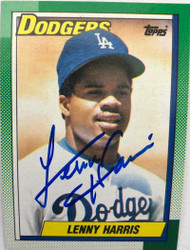 Lenny Harris Autographed 1990 Topps #277