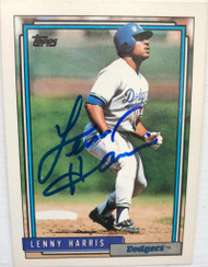 Lenny Harris Autographed 1992 Topps #92