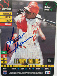 Lenny Harris Autographed 1995 Donruss Top of the Order #213