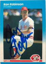 Ron Robinson Autographed 1987 Fleer #212