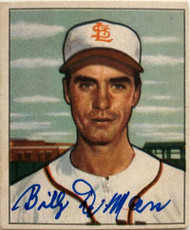 Billy DeMars Autographed 1950 Bowman #252