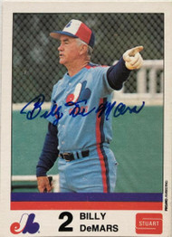 Billy DeMars Autographed 1983 Expos Stuart #11