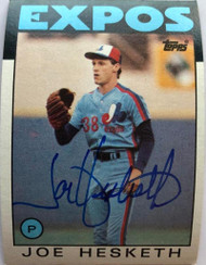 Joe Hesketh Autographed 1986 Topps #472