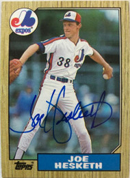 Joe Hesketh Autographed 1987 Topps #189