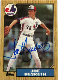 Joe Hesketh Autographed 1987 Topps Tiffany #189