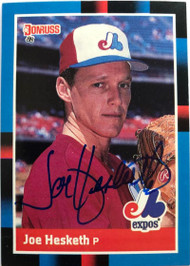 Joe Hesketh Autographed 1988 Donruss #504