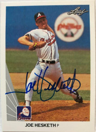 Joe Hesketh Autographed 1990 Leaf #507
