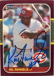 Kal Daniels Autographed 1987 Donruss Opening Day #192