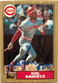 Kal Daniels Autographed 1987 Topps Tiffany #466