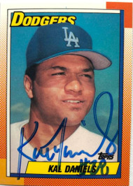 Kal Daniels Autographed 1990 Topps Tiffany #585