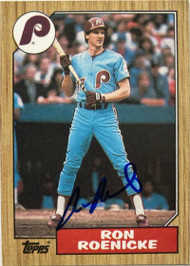 Ron Roenicke Autographed 1987 Topps #329