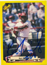 Kal Daniels Autographed 1987 Classic Yellow Update #130