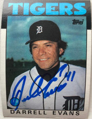 Darrell Evans Autographed 1986 Topps #515
