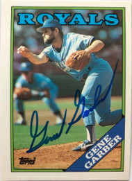Gene Garber Autographed 1988 Topps TIffany #597