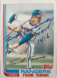 Frank Tanana Autographed 1982 Topps Traded #117T