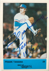 Frank Tanana Autographed 1983 Rangers Affiliated Foods #28