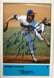 Frank Tanana Autographed 1984 Rangers Jarvis Press #28