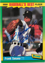 Frank Tanana Autographed 1988 Fleer Sluggers/Pitchers #42