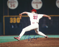 Bobby Thigpen Autographed Phillies 8 x 10 Photo