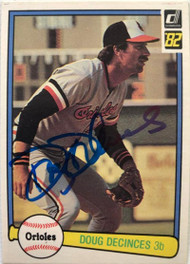Doug DeCinces Autographed 1982 Donruss #279