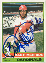Bake McBride Autographed 1976 Topps #135