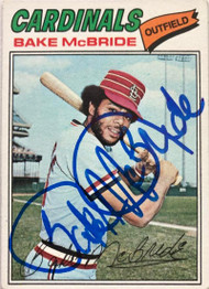 Bake McBride Autographed 1977 Topps #516