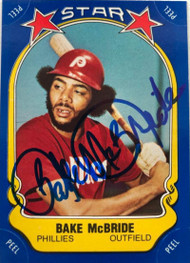 Bake McBride Autographed 1981 Fleer Star Stickers #31