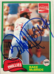 Bake McBride Autographed 1981 Coke Team Sets #6