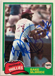 Bake McBride Autographed 1981 Topps #90
