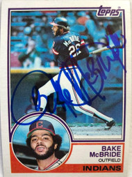 Bake McBride Autographed 1983 Topps #248