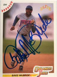 Bake McBride Autographed 1990 Elite Senior League #58
