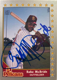 Bake McBride Autographed 1989-1990 Pacific Senior League #19