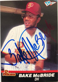 Bake McBride Autographed 1989-1990 T&M Senior League #74