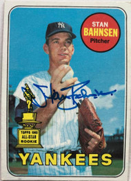 Stan Bahnsen Autographed 1969 Topps #380