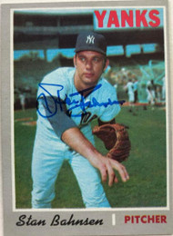 Stan Bahnsen Autographed 1970 Topps #568