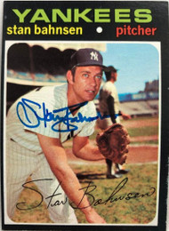 Stan Bahnsen Autographed 1971 Topps #184