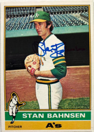 Stan Bahnsen Autographed 1976 Topps #534