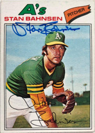 Stan Bahnsen Autographed 1977 Topps #383