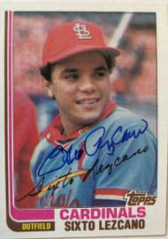 Sixto Lezcano Autographed 1982 Topps #727