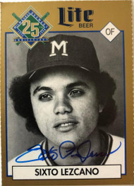Sixto Lezcano Autographed 1994 Brewers Miller Brewing #149