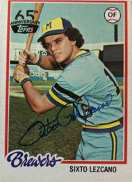 Sixto Lezcano Autographed 2016 Topps Archives 65th Anniversary 1978 #316