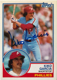 Kiko Garcia Autographed 1983 Topps Traded #36T