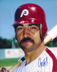 Ozzie Virgil Jr. Autographed Phillies 8 x 10 Photo