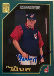 Charlie Manuel Autographed 2001 Topps #329